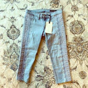 Embroidered Rag&Bone capri jeans